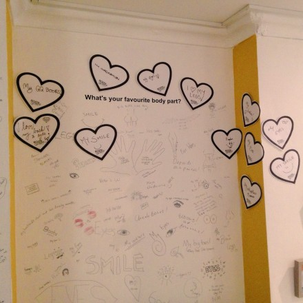 BodyLove wall for Body Gossip at The Canvas