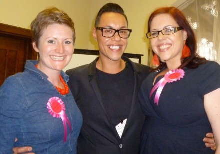 Gok Wan with BodyGossipRuth and BodyGossipTash