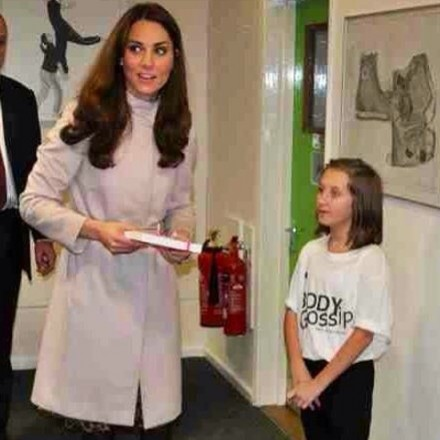 Kate Duchess of Cambridge with the Body Gossip Book