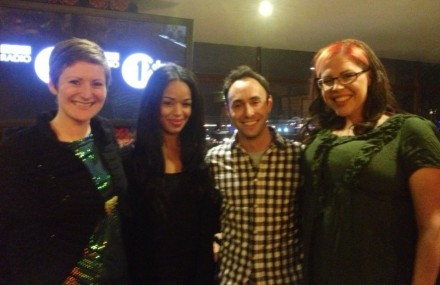 Body Gossip's Ruth and Natasha on Radio1 with Sarah-Jane and Aled