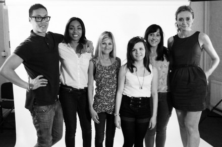 Gok Wan with Body Gossip cast and Brianna from Gok's Teens